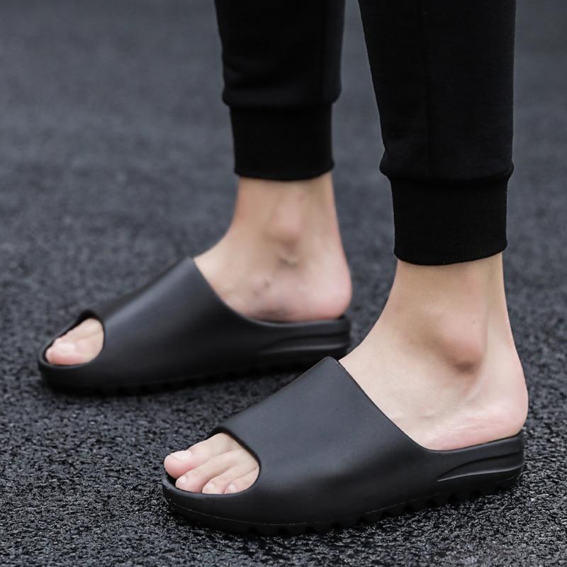 Coslony chinelos para homens moda verão cor