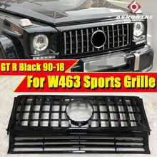 FitS For Mercedes Benz G Class W463 GT R Style Replacement Sport Front Grille ABS Black without Sign G500 G550 look grills 90-18