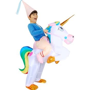 цена Funny Carnival Cosplay Flamingo Inflatable Costumes Halloween Costume For Adult Men Women Unisex Dress Inflatable Costume Party онлайн в 2017 году