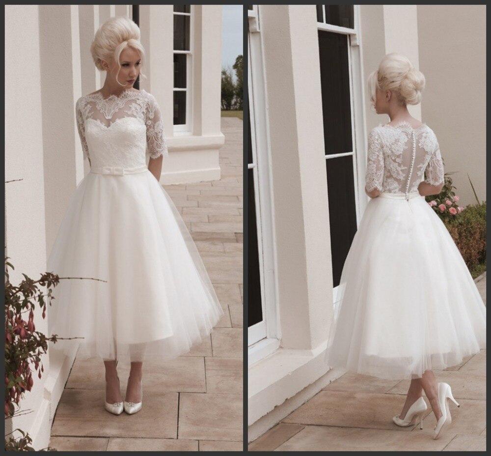 Custom Sexy Casamento Short Wedding Dress Bride Party Gown Cheap Sleeves Vestido De Noiva 2016 New Fashionable Free Shipping
