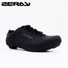 ZERAY E110 erkekler yol bisikleti bisiklet ayakkabıları kaymaz nefes bisiklet ayakkabıları atletik spor ayakkabılar Zapatos bicicleta klasik siyah