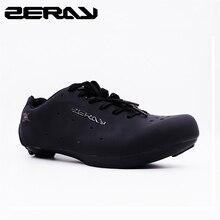 ZERAY E110 hommes vélo de route chaussures de vélo anti dérapant respirant chaussures de cyclisme chaussures de Sport athlétique Zapatos bicicleta classique noir