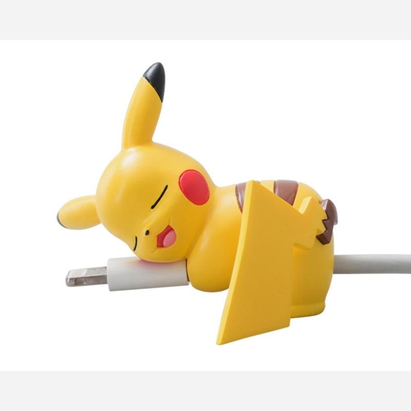 Милый укус мультфильм кабель протектор для iPhone X наушники кабель для передачи данных Универсальный шнур Защита Защитный чехол USB кабель Winder
