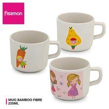 FISSMAN 225ml Bamboo Fibre Kids Cup Cartoon Fruit Juice Milk Mug