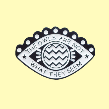 Eye-shaped Enamel Pin The Owels Are Not What They Seem Badge Brooch Denim Clothes Backpack Eye Organ Jewelry Gift For Friends image