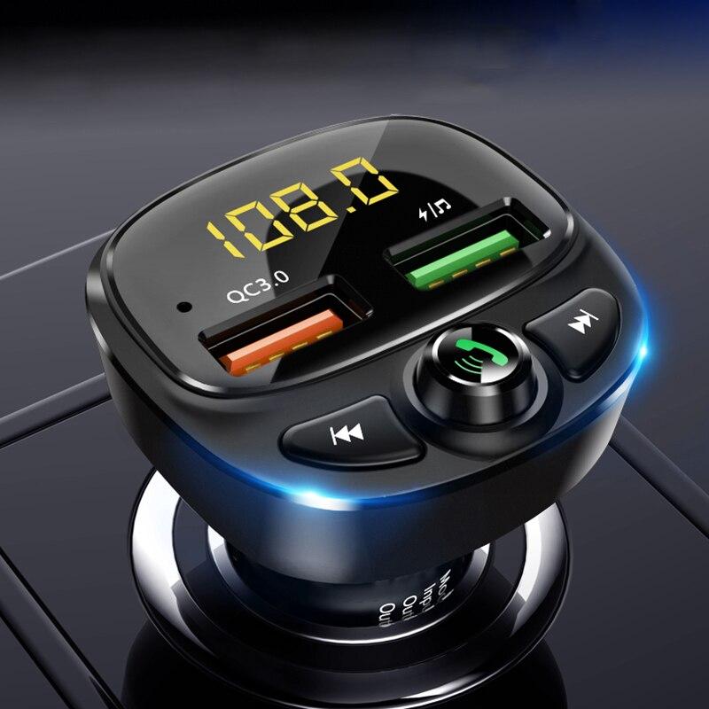 QC 3,0 Dual USB Ladegerät Auto Bluetooth 5,0 Fm Transmitter MP3 Player Auto Kit TF Karte Auto Quick Charge Adapter freisprechen