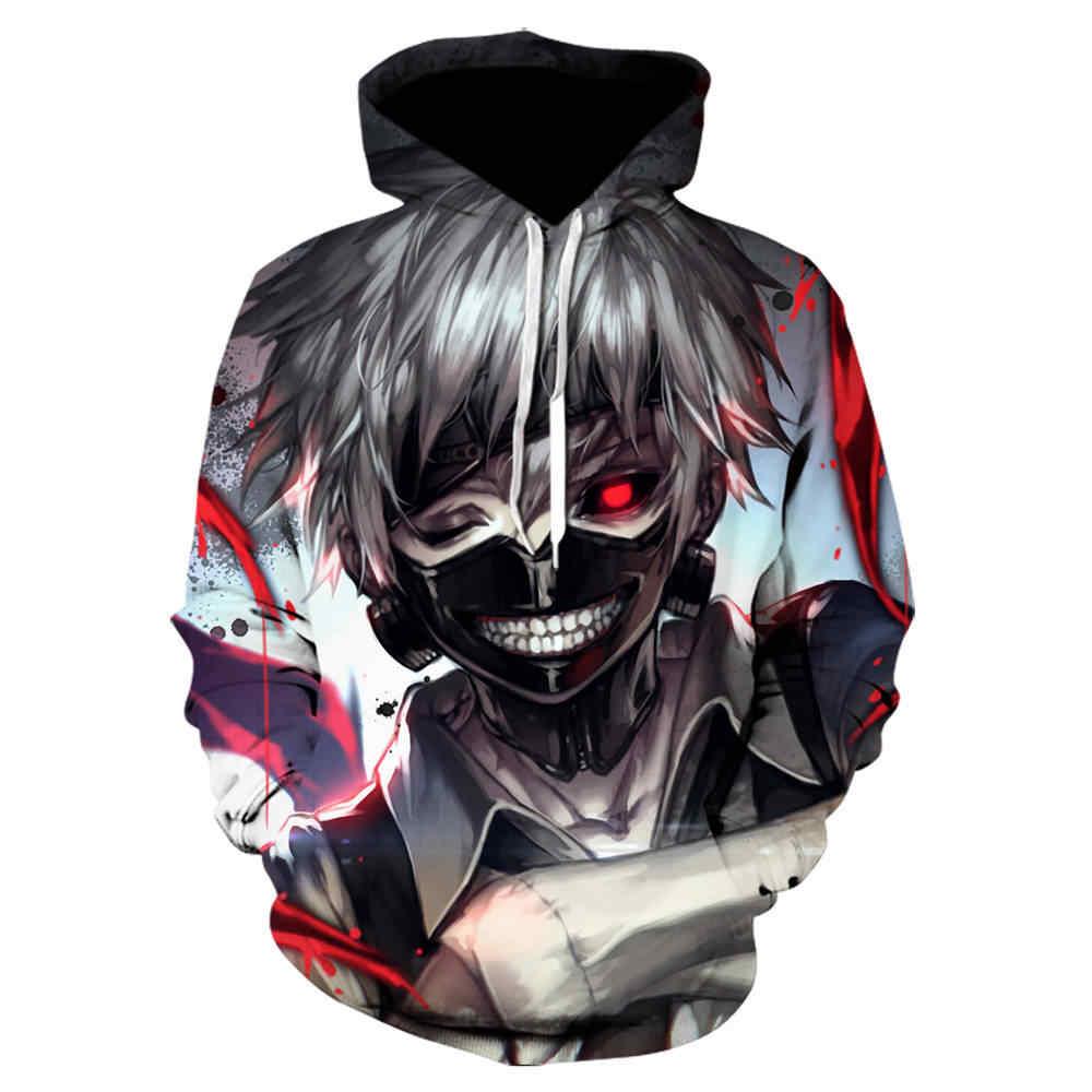 Gran oferta Sudadera con capucha Naruto 3D para hombre/mujer moda Sasuke PRIMAVERA/otoño Kakashi 3D dibujos animados moda Harajuku ropa superior