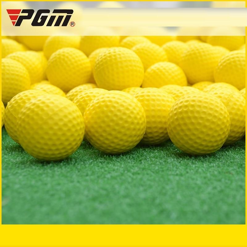 Pgm 2Pcs Golf Balls Outdoor Sports PU Foam Golf Ball Swing Exercise Field BallsIndoor Outdoor Practice Training Aids