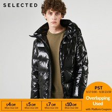 SELECTED Men's Glossy Short Down Jacket New Hooded Duck Down Coat Winter Casual Male Clothes C | 419112507(China)