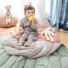Хлопковый ковер для новорожденных одеяло в форме листа игровой
