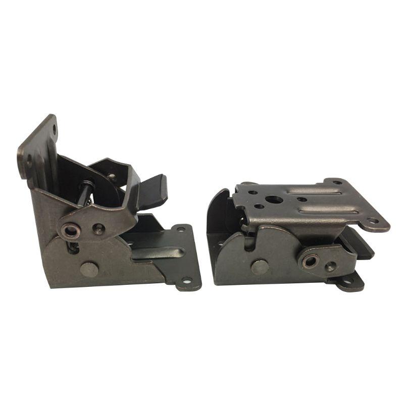 Lock Extension Table Bed Leg Feet Steel Folding Foldable Support Bracket Screw  37MD