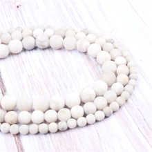 Frosted White Agate Natural?Stone?Beads?For?Jewelry?Making?Diy?Bracelet?Necklace?4/6/8/10mm?Wholesale?Strand