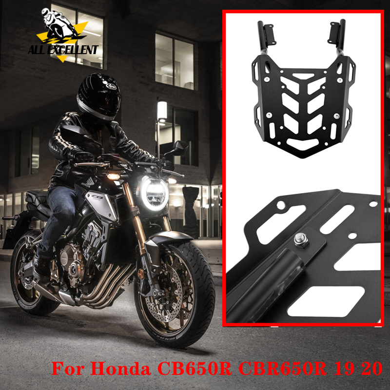 Steel Motorcycle Metal Rear Luggage Rear Rack Carrier Storage Box Bracket For Honda CB650R CBR650R 2019 2020