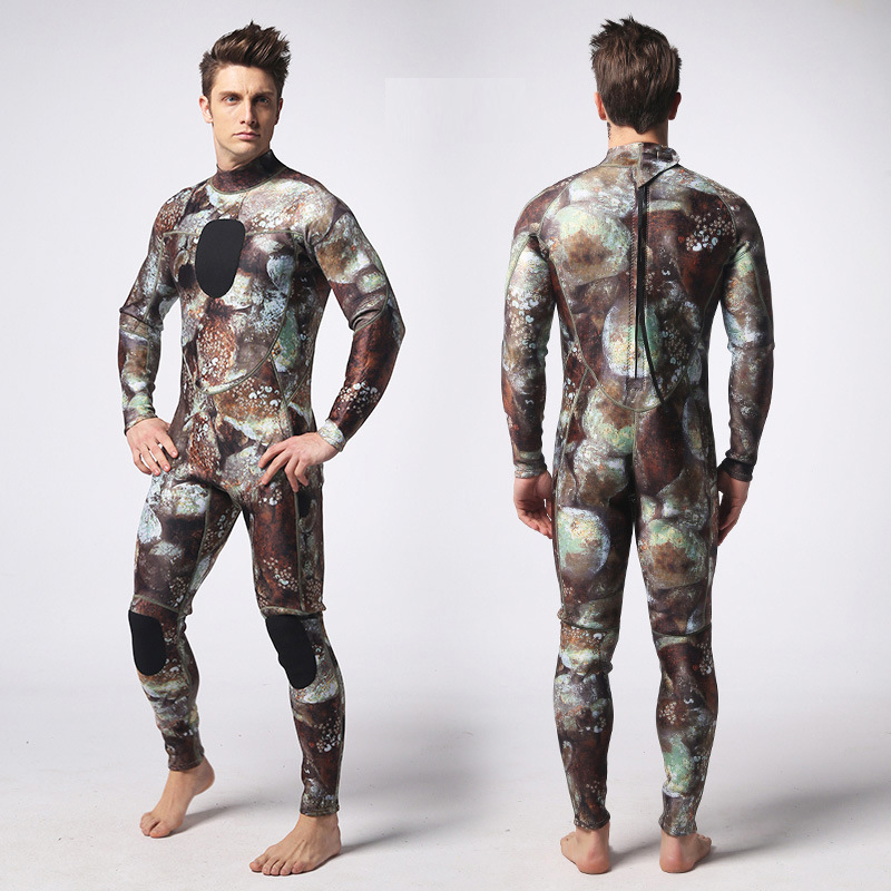 Hommes néoprène combinaisons chasse sous-marine Surf à manches longues combinaisons de plongée combinaison de plongée tuba maillot de bain combinaison de plongée sous-marine