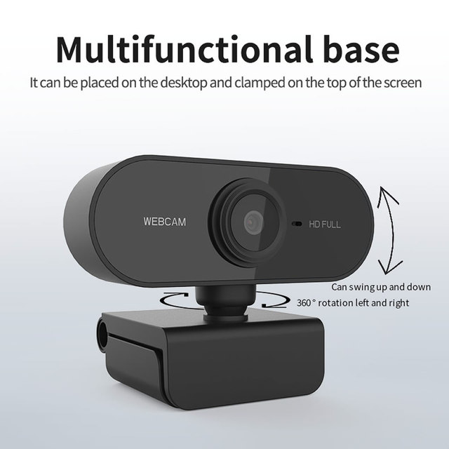 HD 1080P Webcam Mini Computer PC WebCamera with Microphone Rotatable Cameras for Live Broadcast Video Calling Conference Work 3