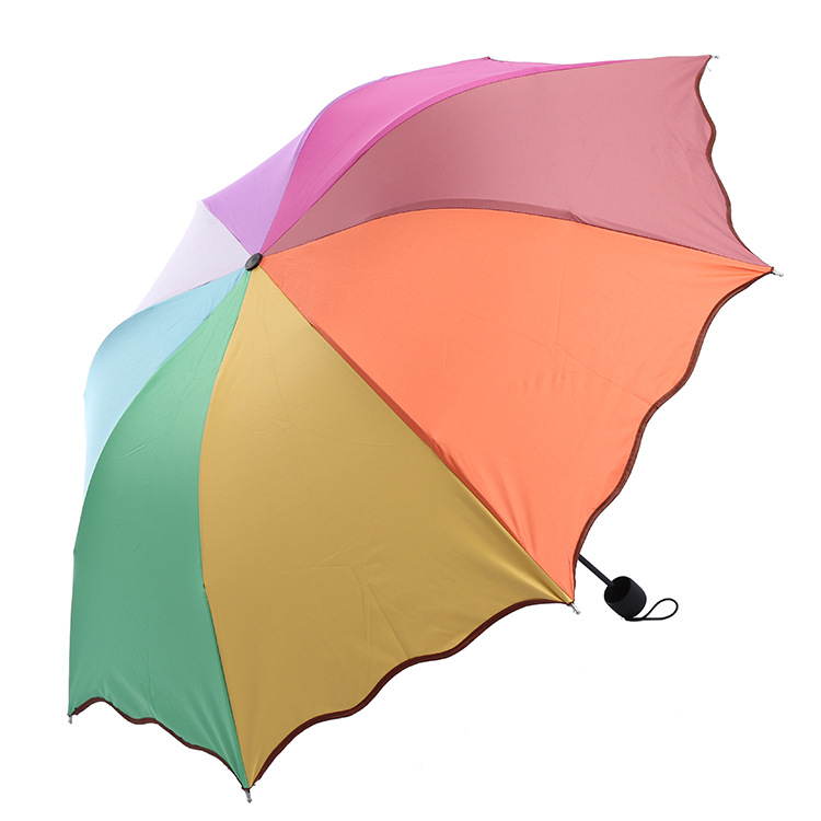 [Upgraded Vinyl] Rainbow Umbrella Apollo Flounced Sun-resistant All-Weather Umbrella Customizable Insurance Logo