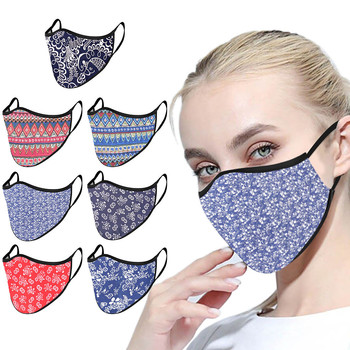Printed Mask Adults Reusable Mascarillas 1pcs Cloth Polyester Washable Anti-dust Reusable Mouth Face Masks Cover Wholesale image