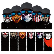 NEW 3D Skull Faces Scarf Outdoor Multi-use Men Magic Changeable Neck Tube Snood Bandana Warmer Unisex Scarves