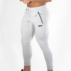 Image 5 - Calça moletom para musculação masculina, calça de algodão para academia e treino, outono/inverno 2019