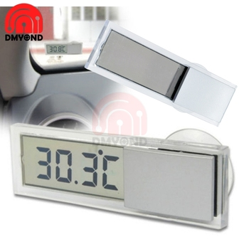 Mini LCD Digital Display Temperature Measuring Range -20 -110 Auto Car Thermometer With Suction Cup AG10 Button Cell Battery image