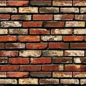 Image 4 - Impermeable Vintage 3D piedra efecto papel tapiz rollo moderno rústico realista imitación piedra textura vinilo PVC papel de pared decoración del hogar