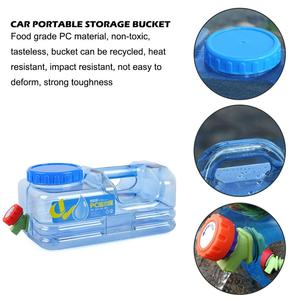 Image 4 - 5L Portable Car Driving Water Bucket PC Thickened Camping Water Tank Water Container With Faucet For Camping Hiking Picnic
