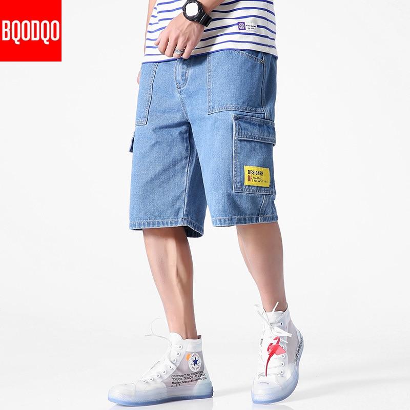 Denim 2019 Jeans Men 5XL Cotton Plus Size Casual Summer Fashion Running Shorts Streetwear Casual Trendy Hip Hop Loose Short Pant