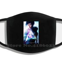 Fantasma na concha filme cartaz lavável respirável reutilizável diy máscaras de boca fantasma no filme de casca 2017 grande scarlett