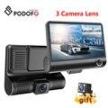 Podofo видеорегистратор 4 0 дюйма HD Автомобильный видеорегистратор Камера с двойным объективом с камерой заднего вида видео авто видеорегистр...