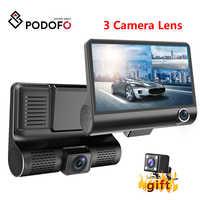 Podofo Dash Cam 4.0 pollici HD Auto DVR del Precipitare Della Macchina Fotografica Doppia Lente Con Videocamera vista posteriore Video Auto DVR Dash Cam Auto DVR DVR Videocamera