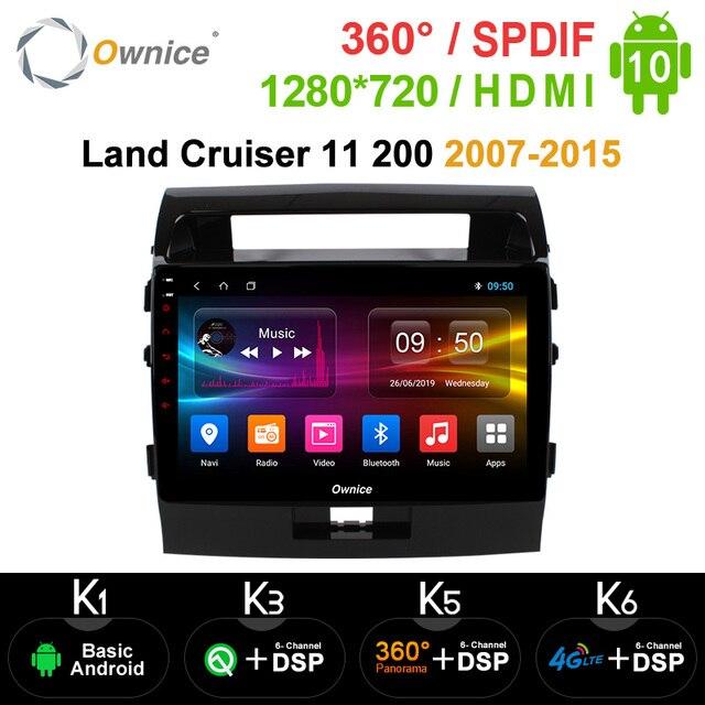 Ownice Android 10.0 Xe Ô Tô DVD Navi GPS Người Chơi Cho Xe Toyota Đất Tàu Tuần Dương 11 200 2007 2015 K3 K5 K6 DSP 4G SPDIF Đài Phát Thanh Đa Phương Tiện
