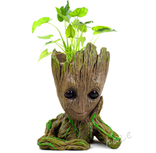 Hot Movie Guardians of The Galaxy Baby Groot Tree Man Figure Model Flowerpot Pen Pot 16cm Kids Great Birthday Gift guardians of the galaxy 2 dj baby dancing tree man statue resin action figure collectible model decoration toy party supplies