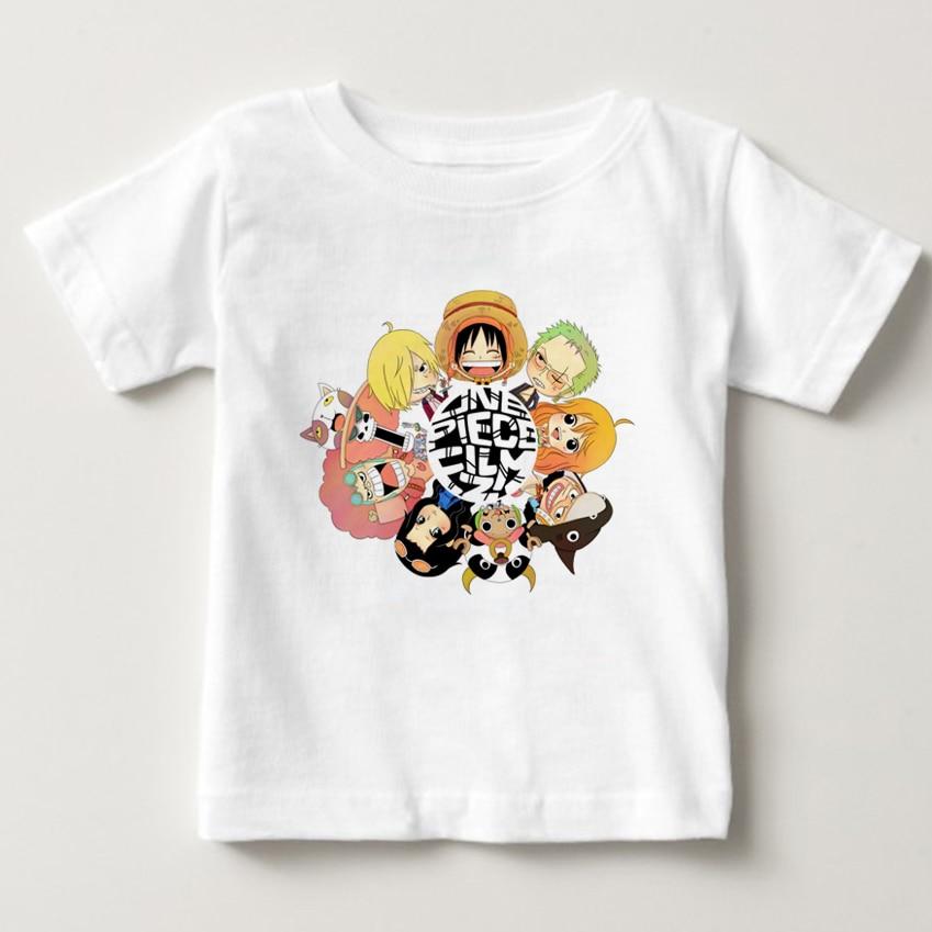 One Piece Luffy Camiseta Crianças 100% Algodão de Manga Curta Em Torno Do Pescoço T-shirt Tee-shirt 2019 Do Bebê das Crianças t-shirt para o Menino Menina
