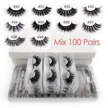 ขายส่งขนตาปลอม 20/30/40/50/100 คู่ 3D Mink Lashes eyelash EXTENSIONธรรมชาติขนตาปลอมแต่งหน้าปลอมจำนวนมาก