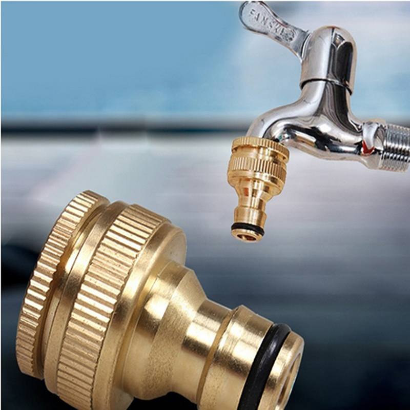 Brass Colour Pacifier Shape Faucets Connector For Washing Machine Water Tap Fitting Pipe Brass Connect 25mm 20mm Thread