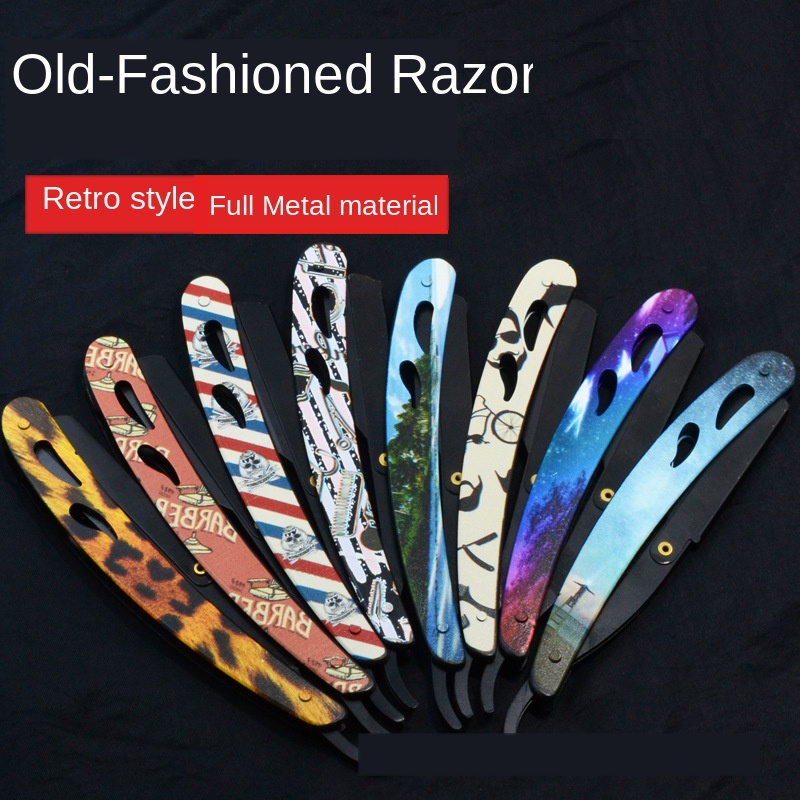 New Retro Hair Razor Barber Shop Dedicated Vintage Razor Shaver Razor Manual Eyebrow Trimming G1126