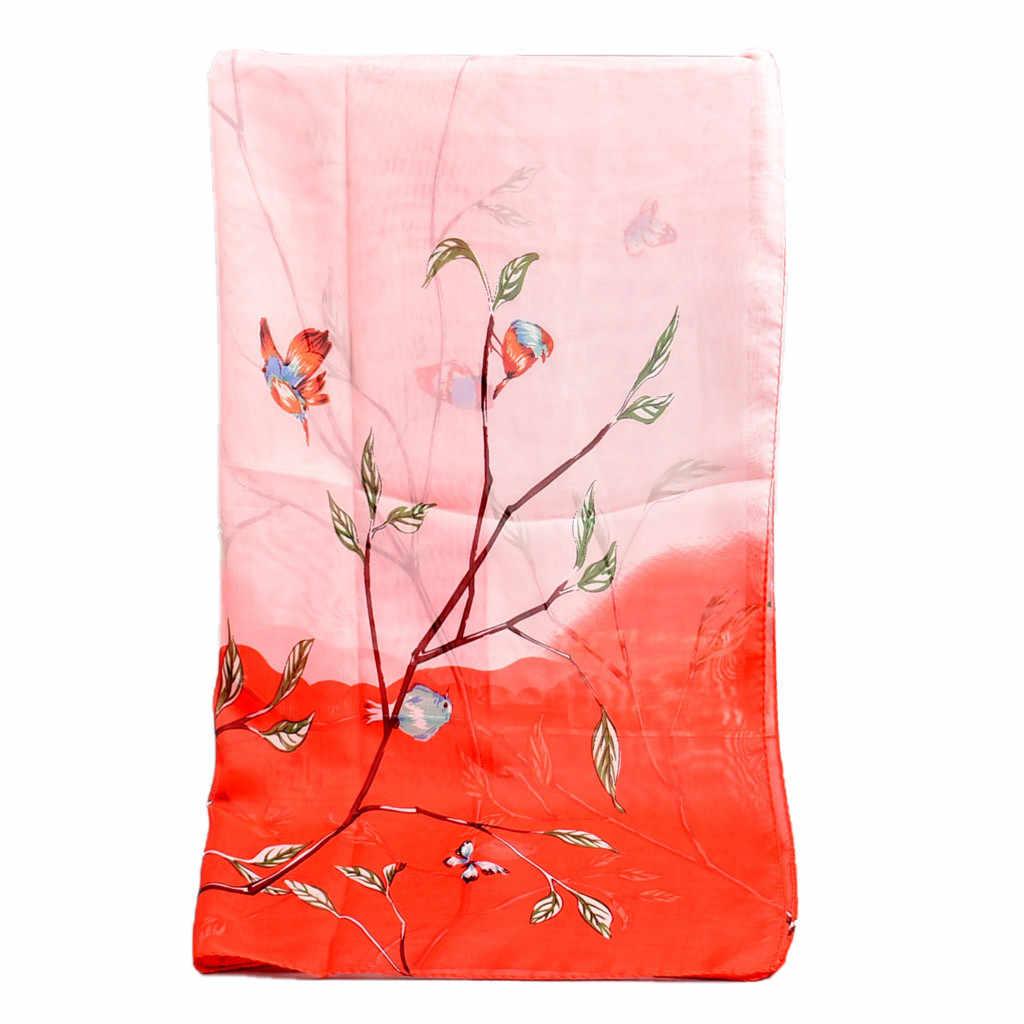 Estilo chinês retro flores florais impresso macio xale envolve longo cachecol branco cachecóis wrap feminino senhoras monteau femme hiver