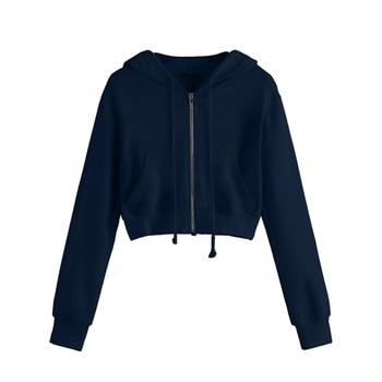 Spring 2020 Casual Hoodie Zipper Long Coat Sweatshirt Women Zip Up Loose Oversized Jacket Coat Women Hoodies Outwear Tops 8