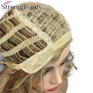 Image 5 - StrongBeauty מתולתל נשים פאה קצר סינטטי עמיד בחום פאות נשים יומי או קוספליי שיער