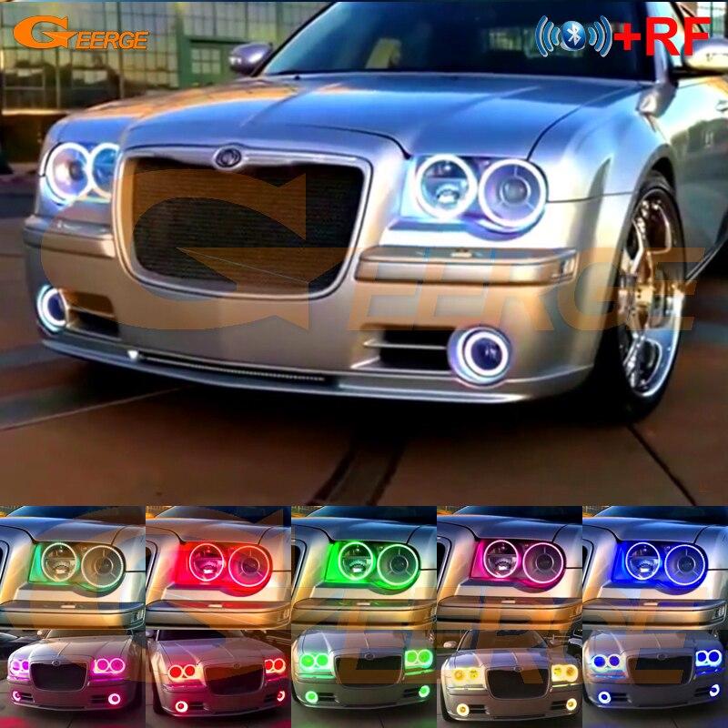For Chrysler 300C 2004 2005 2007 2008 2009 2010 RF Remote Bluetooth APP Multi-Color Ultra Bright RGB LED Angel Eyes Kit