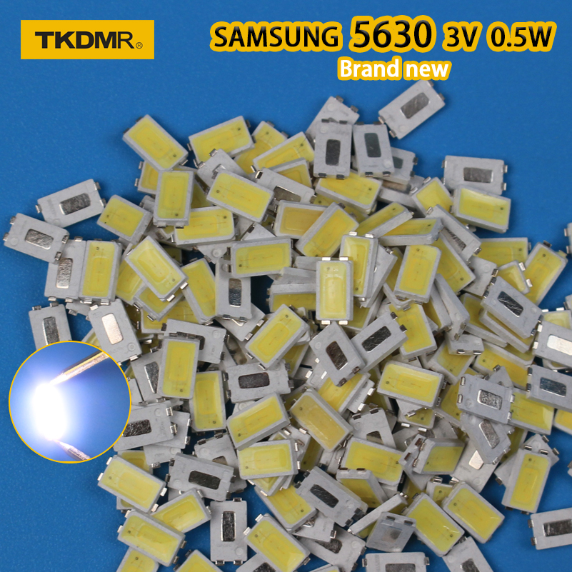 120PCS LED Backlight 0.5W 3v 5630 FOR SAMSUNG Cool White LCD Backlight For TV TV Application SPBWH1532S1ZVC1BIB