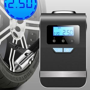 Image 1 - منفاخ إطارات السيارة ، ضاغط هواء كهربائي محمول 12 فولت ، مضخة نفخ رقمية لإطارات السيارة ، ولاعة سجائر