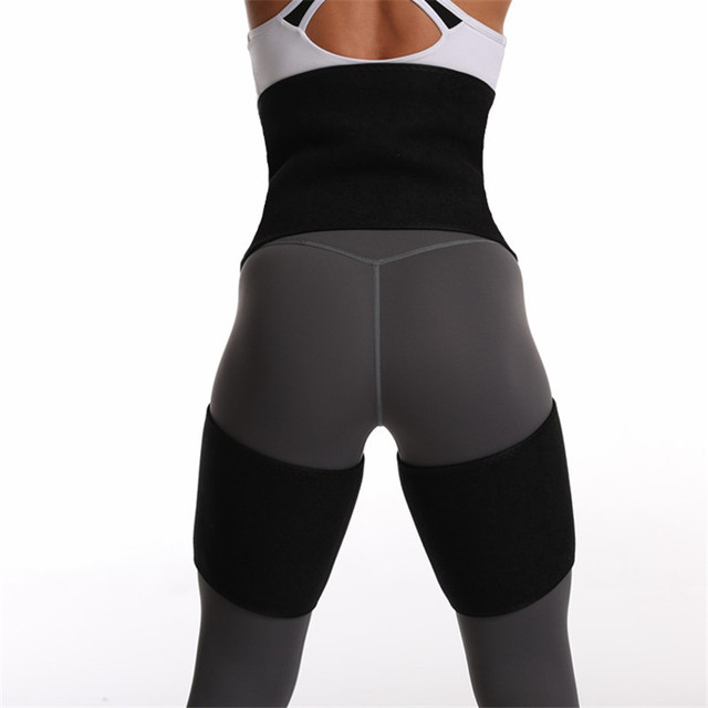 2020 Women High Waist Belts Sweat Thigh Trimmers Leg Shaper Neoprene Slimming Belt Control Panties Fat Burning Wraps Thermo Belt 1