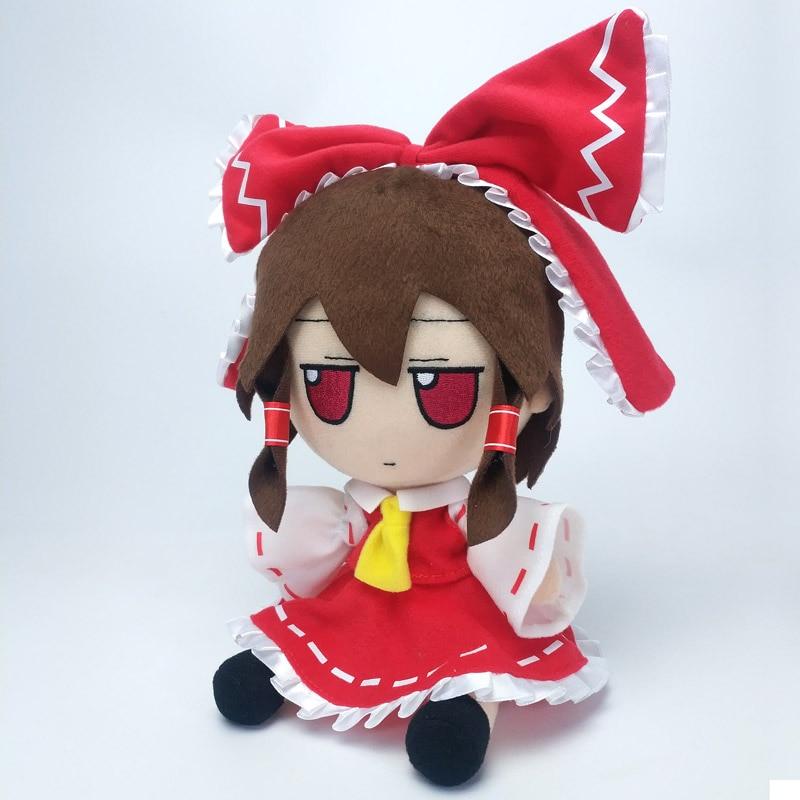 Touhou Project Hakurei Reimu Cosplay Mascot Toy 22cm Anime Stuffed & Plush Cartoon Doll