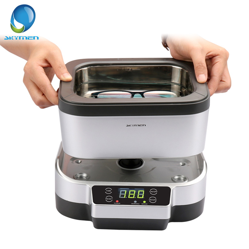 SKYMEN 1200ml Ultrasonic Cleaner Bath With Degas Split Detachable Tank Jewelry Cutters Tools Parts Dental Cleaning Sterilizer