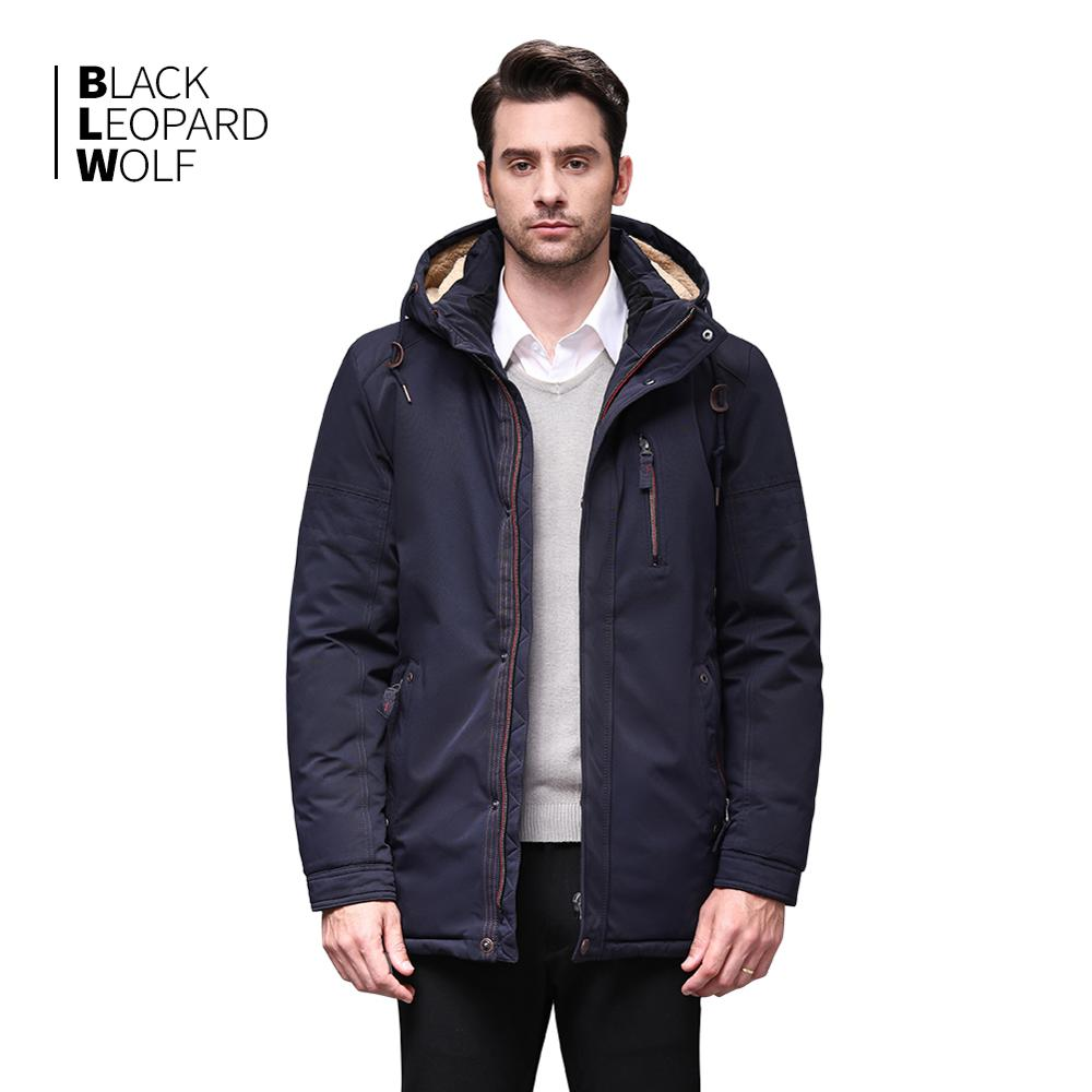 Blackleopardwolf 2019 New Arrival Winter Jacket Men With A Fur Collar Fashion Coat Thik Parka Outwear With A Fur Collar BL-6003