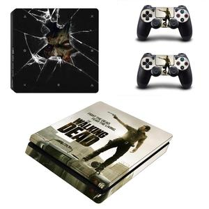 Image 3 - The Walking Dead PS4 Slim Stickers Play station 4 Skin Sticker Vinyl For PlayStation 4 PS4 Slim Console & Controller Skins Decal