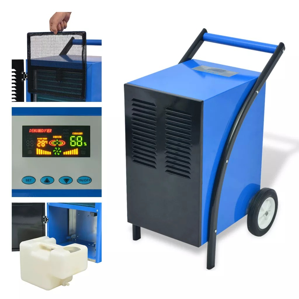 VidaXL 860 W Removebale Dehumidifier 50 L / 24 H With Wheel High Power Electric Air Dryer Machine 230 V 50 Hz SV3