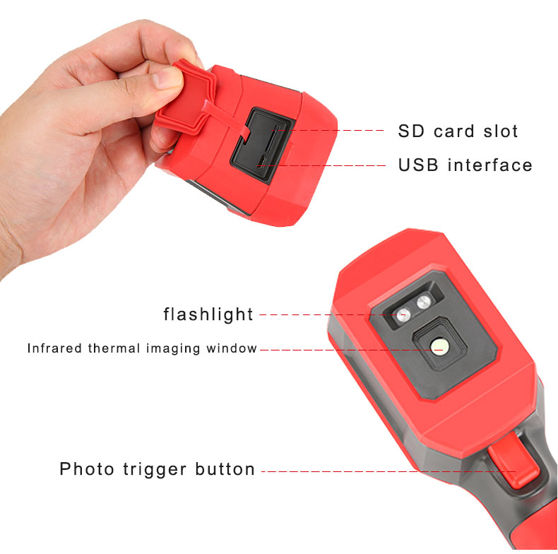Mini Infrared Thermal Imaging Camera With Type-C USB Interface for Lithium Battery Charging 32