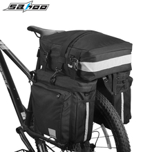 SAHOO Bicycle Bag 37L MTB Bike Rear Seat Saddle Bags Storage Trunk Double Side Tail Rack Luggage Pannier Bike Accessories New new multifunctional roswheel mountain bike saddle basket bicycle rear rack bag becicle bicycle pack trunk pannier bycicle bag
